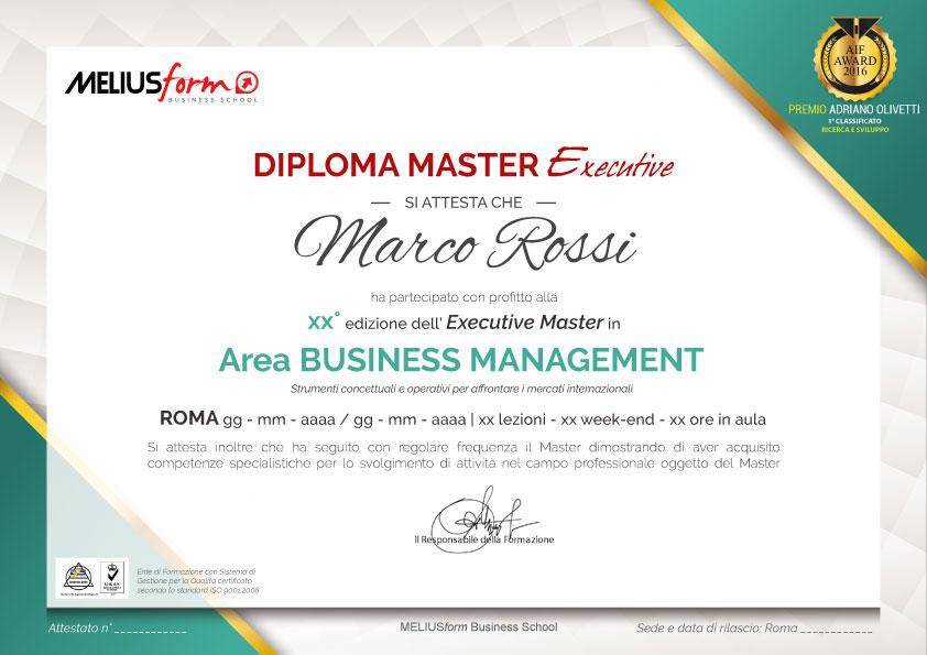 Al termine del Master Management Sanitario, verrà rilasciato il Diploma Master