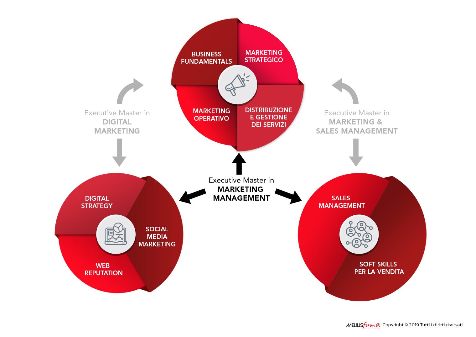 Immagine descrittiva della struttura del Master in Marketing Management MELIUSform